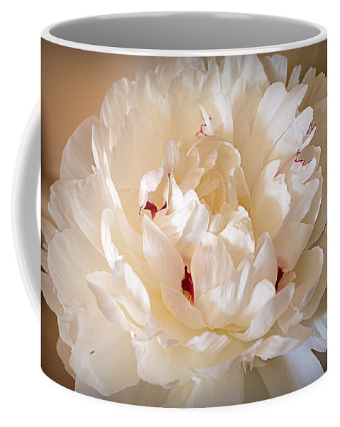 Peony Coffee Mug featuring the photograph Peony by Cricket Hackmann