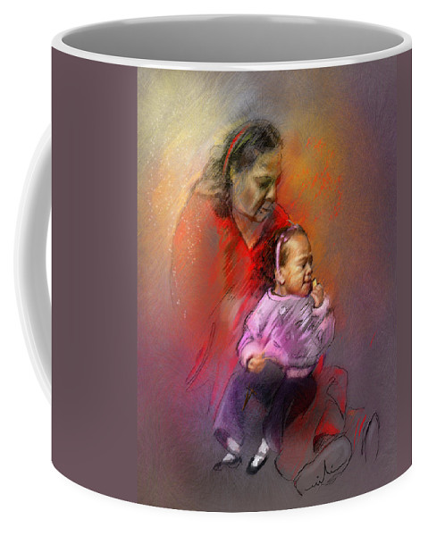 Mother Coffee Mug featuring the painting People From Memphis 03 Bis by Miki De Goodaboom