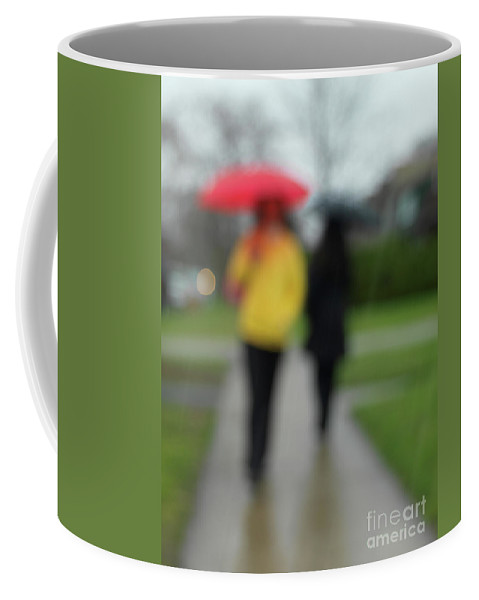 Rainy Day Coffee Mug featuring the photograph People In The Rain by Oleksiy Maksymenko
