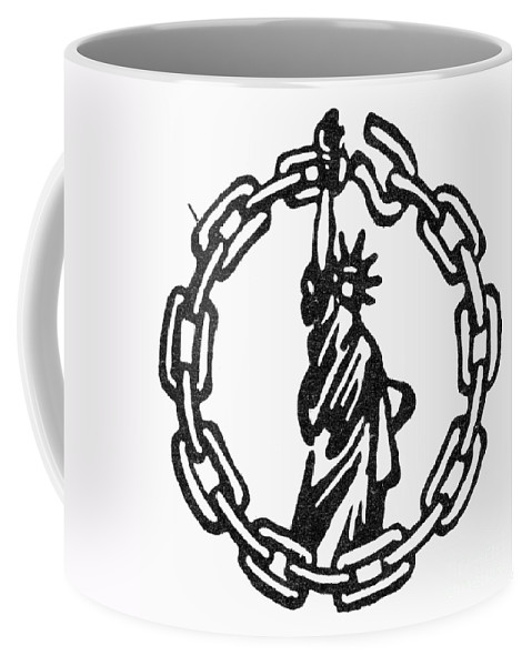 1946 Coffee Mug featuring the photograph Peoples Rights Party by Granger
