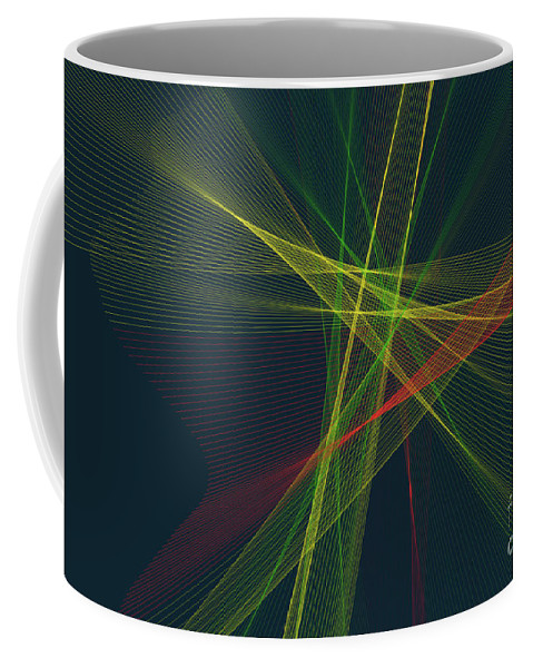Abstract Coffee Mug featuring the digital art Pepper Computer Graphic Line Pattern by Frank Ramspott