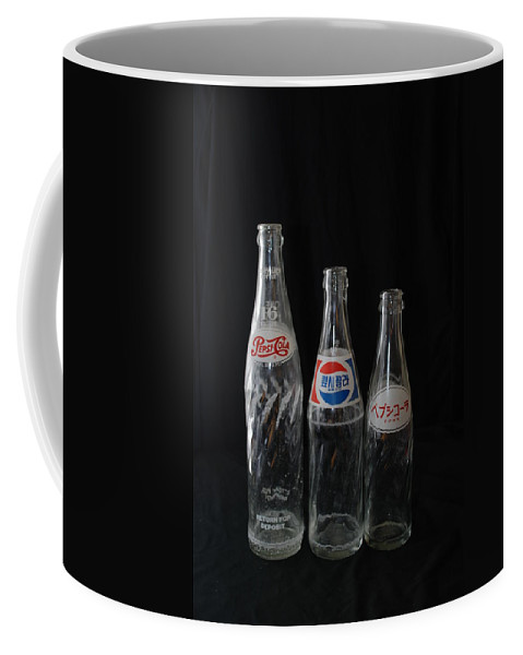 Pepsi Cola Coffee Mug featuring the photograph Pepsi Bottles by Rob Hans