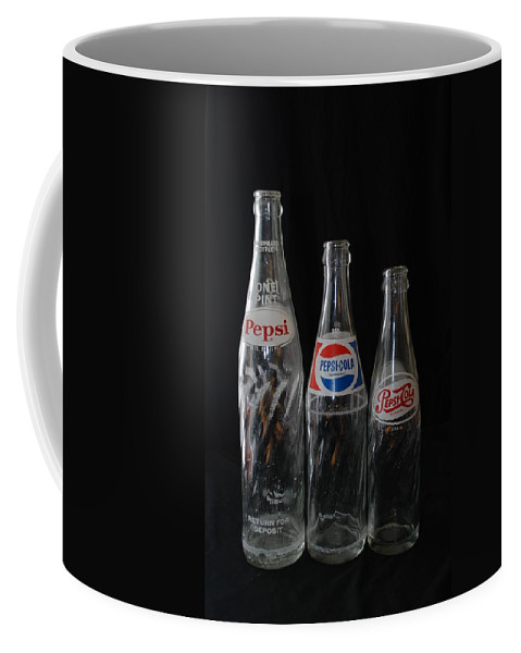 Pepsi Cola Coffee Mug featuring the photograph Pepsi Cola Bottles by Rob Hans