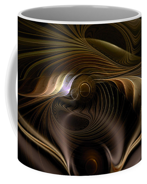 Abstract Coffee Mug featuring the digital art Perceptual Flux by Casey Kotas