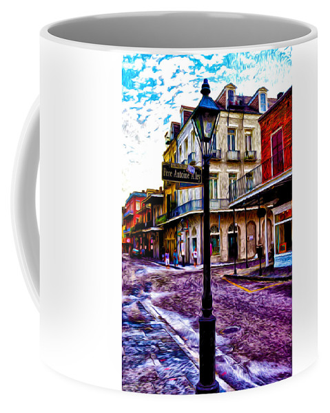 Pere Antoine Alley - New Orleans Coffee Mug featuring the photograph Pere Antoine Alley - New Orleans by Bill Cannon