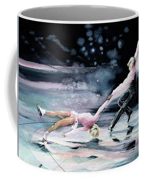 Sports Art Coffee Mug featuring the painting Perfect Harmony by Hanne Lore Koehler