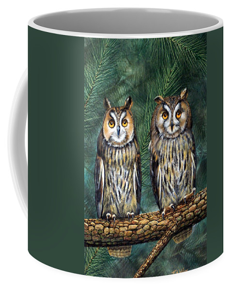 Wildlife Coffee Mug featuring the painting Perfect Strangers by Frank Wilson