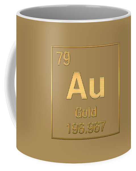 Periodic table of elements gold au gold on gold coffee mug the elements collection by serge averbukh coffee mug featuring the digital art periodic table urtaz Gallery