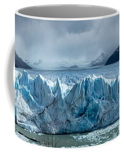 Timothy Hacker Coffee Mug featuring the photograph Perito Moreno Glacier Pano by Timothy Hacker
