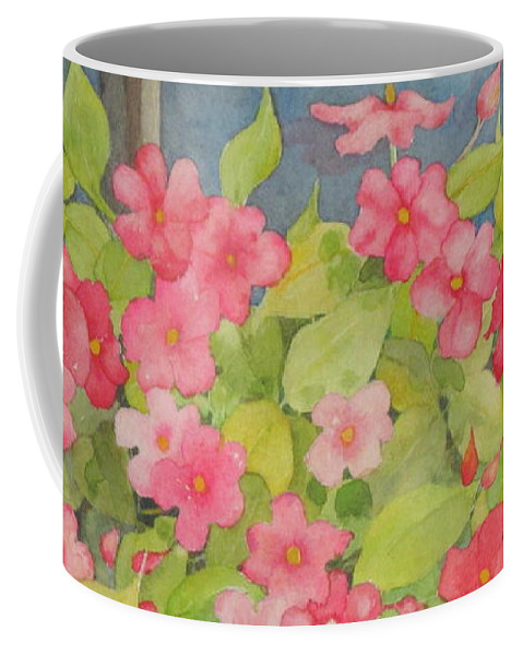 Flowers Coffee Mug featuring the painting Perky by Mary Ellen Mueller Legault
