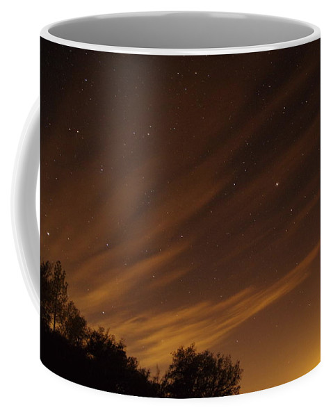 Photograph Of Perseid Meteor Shower Glow Taken In Mountains By Julian Coffee Mug featuring the photograph Perseid Shower Glow C by Phyllis Spoor