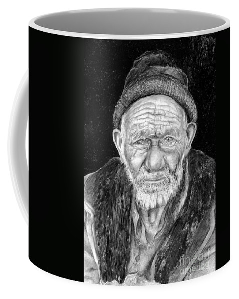 Figurative Painting Coffee Mug featuring the painting Perserverance by Portraits By NC