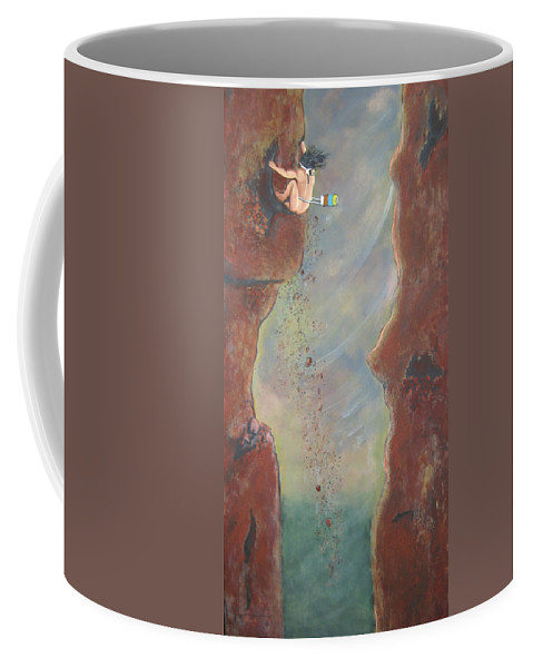 Nature Coffee Mug featuring the painting Perseverance by V Boge