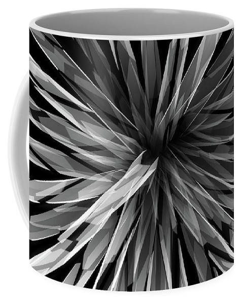 Perspective Facets Coffee Mug featuring the digital art Perspective Facets by Kris Haney Sirk Designs Ltd