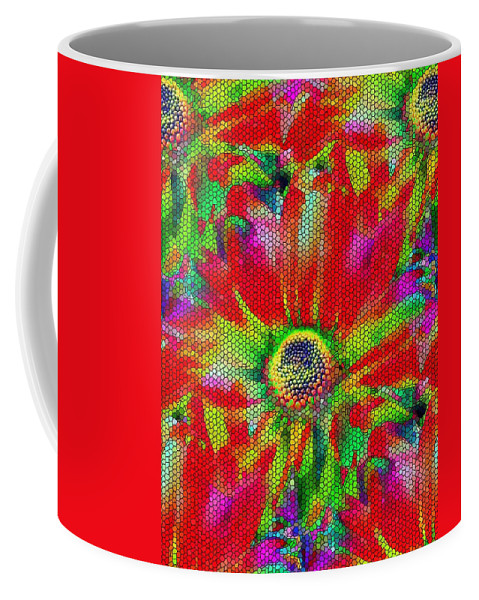 Abstract Coffee Mug featuring the photograph Petal Power by Tim Allen