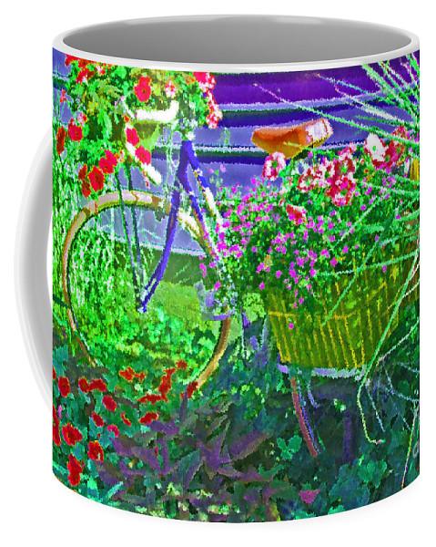 Bike Coffee Mug featuring the photograph Petal Pusher by Debbi Granruth