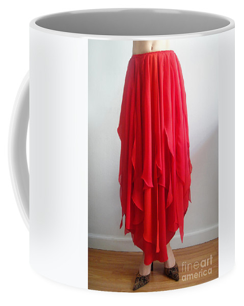 Ameynra Coffee Mug featuring the photograph Petal Skirt - Ameynra Fashion 2016 by Sofia Metal Queen