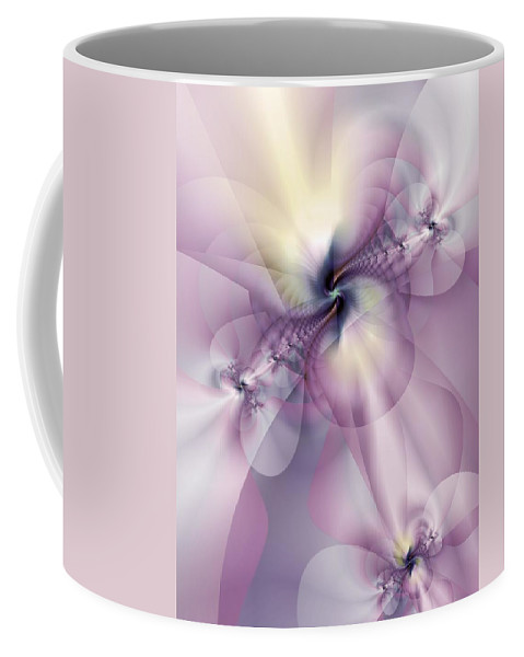 Abstract Coffee Mug featuring the digital art Petals Of Pulchritude by Casey Kotas