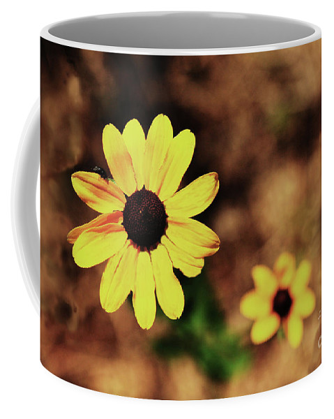 Sunflower Coffee Mug featuring the photograph Petals Stretched by Kim Henderson