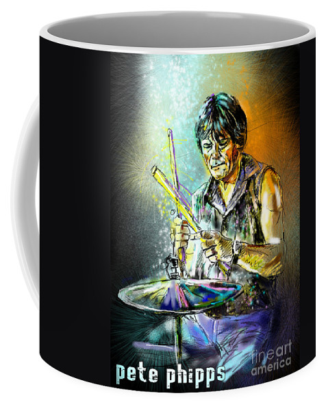Pete Phipps Portrait Coffee Mug featuring the digital art Pete Phipps by Miki De Goodaboom