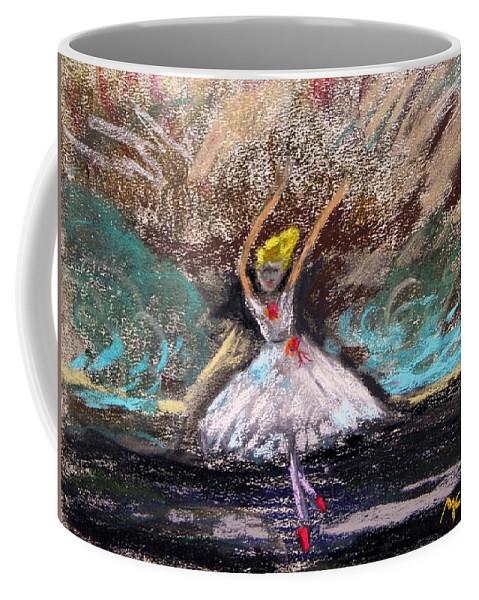 Little Ballerina Coffee Mug featuring the painting Petite Ballerina by Mary Carol Williams