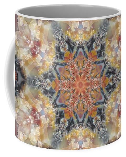 Kaleidoscope Coffee Mug featuring the photograph Petrified Snowflake by M E Cieplinski