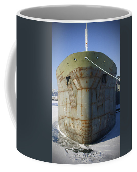 Boats Coffee Mug featuring the photograph Petrochem Supplier Hull by Tim Nyberg