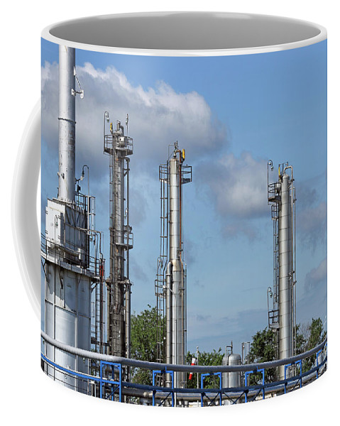 Factory Coffee Mug featuring the photograph Petrochemical Plant Refinery Industry Zone by Goce Risteski