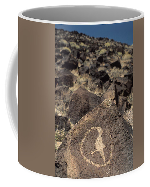 Petroglyph Coffee Mug featuring the photograph Petroglyph by Jerry McElroy