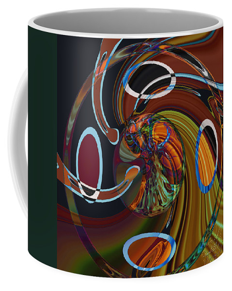 Flames Coffee Mug featuring the mixed media Peyote by Kevin Caudill
