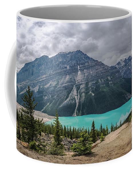Joan Carroll Coffee Mug featuring the photograph Peyto Lake Banff by Joan Carroll