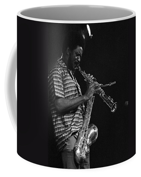 Pharoah Sanders Coffee Mug featuring the photograph Pharoah Sanders 4 by Lee Santa