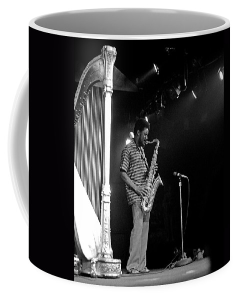 Pharoah Sanders Coffee Mug featuring the photograph Pharoah Sanders 5 by Lee Santa