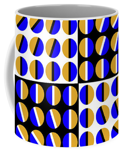 Optical Illusion Coffee Mug featuring the mixed media Phases by Gianni Sarcone