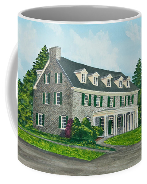 Colgate University Coffee Mug featuring the painting Phi Gamma Delta by Charlotte Blanchard