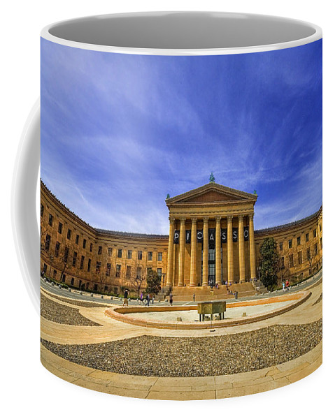 Architecture Coffee Mug featuring the photograph Philadelphia Art Museum by Evelina Kremsdorf