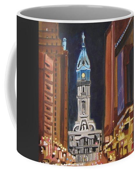 Landmarks Coffee Mug featuring the painting Philadelphia City Hall by Patricia Arroyo