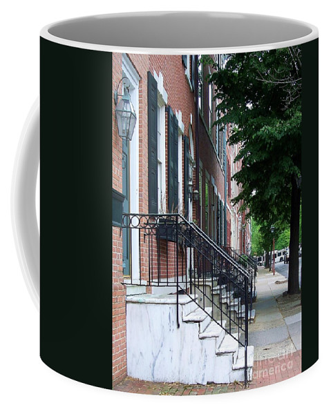 Architecture Coffee Mug featuring the photograph Philadelphia Neighborhood by Debbi Granruth