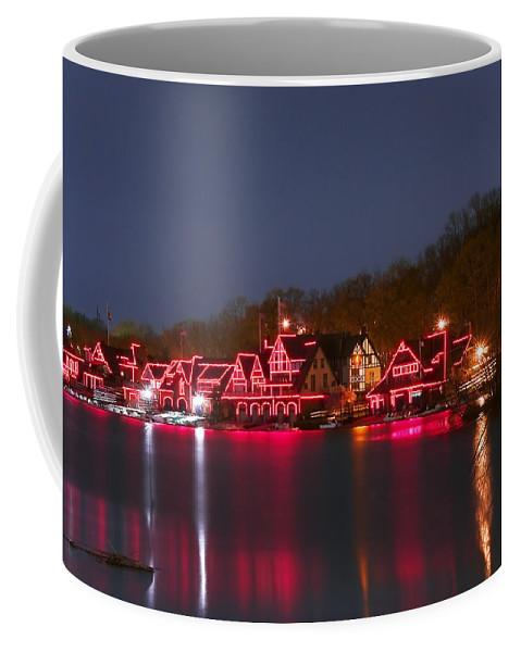 Philadelphia Coffee Mug featuring the photograph Philadelphia Night by Svetlana Sewell