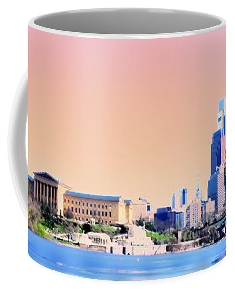 Philadelphia Coffee Mug featuring the photograph Philadelphia Panoramic by Bill Cannon