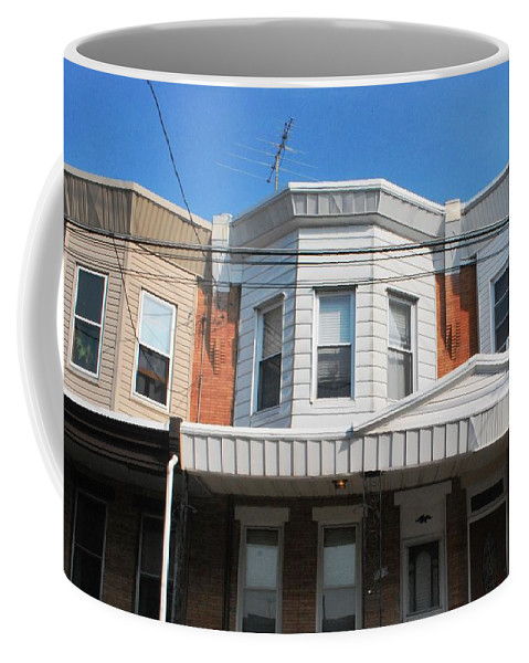 City Coffee Mug featuring the photograph Philadelphia Row Houses by Matt Harang