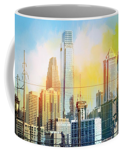 Alicegipsonphotographs Coffee Mug featuring the photograph Philly From Drexel Hill by Alice Gipson
