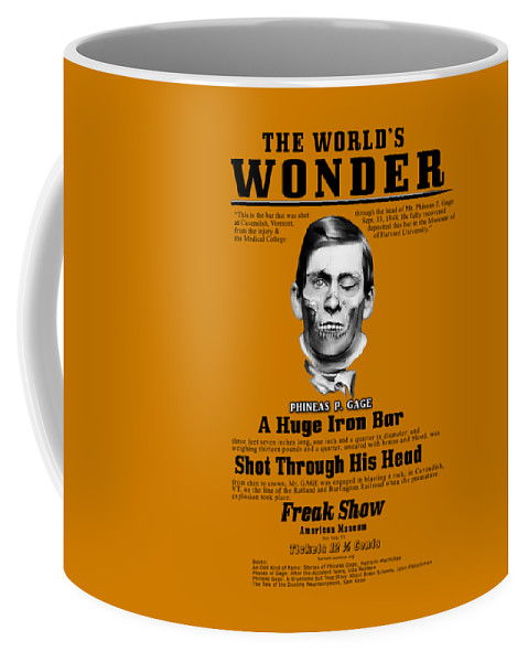 Phineas Gage Coffee Mug featuring the digital art Phineas Gage World's Wonder by Lisa Redfern