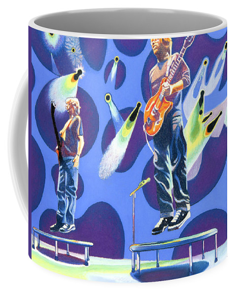 Phish Coffee Mug featuring the drawing Phish Tramps by Joshua Morton