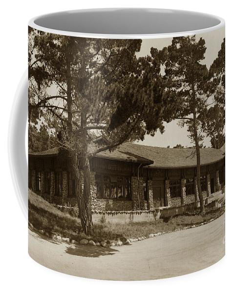 Asilomar Coffee Mug featuring the photograph Phoebe A Hearst Social Hall Asilomar Pacific Grove Circa 1925 by California Views Archives Mr Pat Hathaway Archives