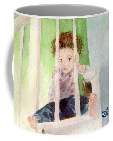 Cute Coffee Mug featuring the painting Phoebe by Andrew Gillette