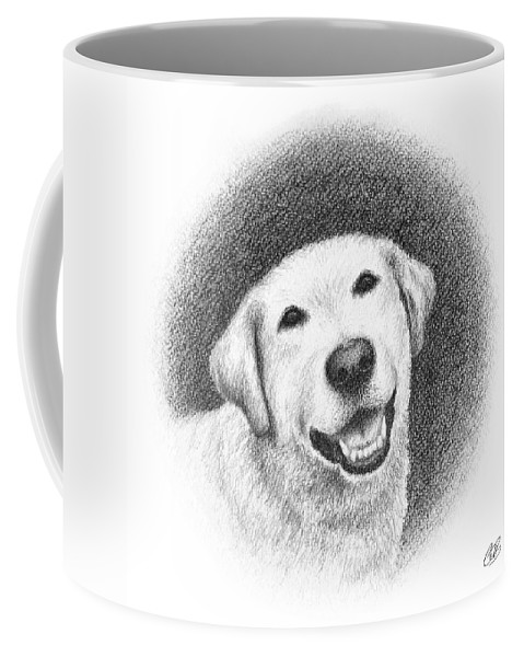 Phoebe Coffee Mug featuring the drawing Phoebe by Conor O'Brien