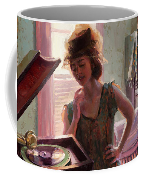 Nostalgia Coffee Mug featuring the painting Phonograph Days by Steve Henderson