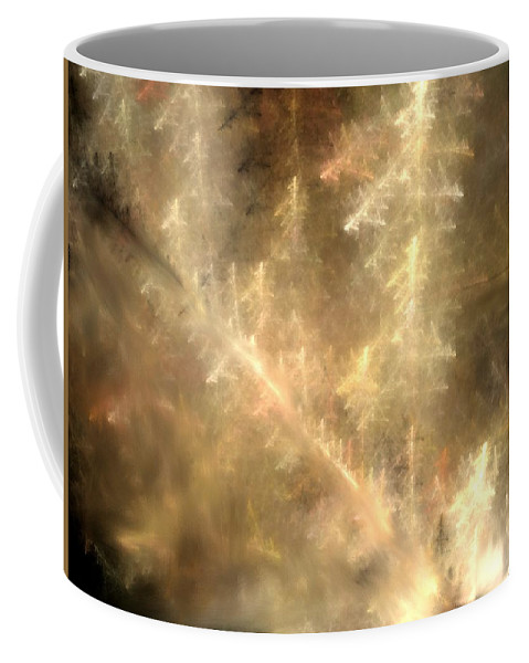 Abstract Digital Painting Coffee Mug featuring the digital art Phosphorescent Forest by David Lane