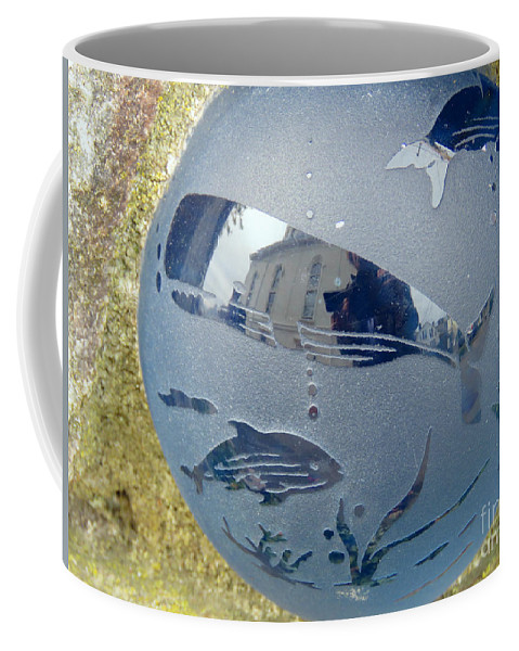 Ocean Coffee Mug featuring the photograph Photographer Swallowed By Whale by Maxine Kamin